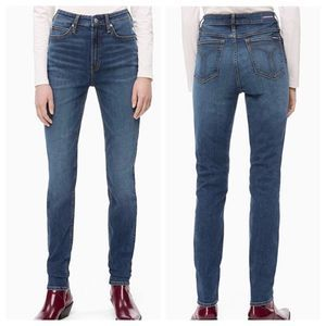 Calvin Klein High Rise Skinny Jeans Size 30 Blue